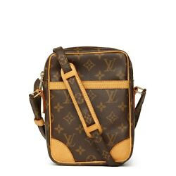 LOUIS VUITTON BROWN MONOGRAM COATED CANVAS DANUBE HB1579