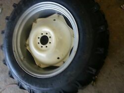 Two 13.6x28 Massey, Ford R 1 Tractor Tires For Replacement Spin Out Wheels
