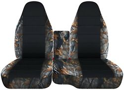 Fits 1991-2011 Ford Ranger Car Seat Covers 60-40 +console Covercamo Tree Combo