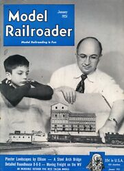 Model Railroader Magazine January 1951 Excellent Condition