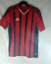 Adidas Red Black Soccer Jersey Size Youth Large Yl Fort14 Brand New