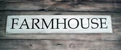 Farmhouse - Large Rustic Wood Sign 42 Long Distressed White Farmhouse Style 2