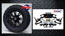 Club Car Ds Golf Cart 6 A-arm Lift Kit + 14 Wheels And 23 At Tires 2004.5-up