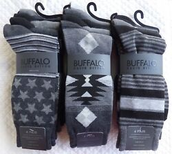 Buffalo David Bitton Casual Crew Mens Socks 4 pack Comfort Fit Choose Your Socks