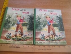 Peter Gets His Wish Bonnie Book 1st Edition 1947 Dust Jacket Frances Ingersoll
