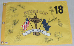 Phil Mickelson Signed Auto'd 2008 Ryder Cup Flag Psa/dna Coa Azinger Stricker +b