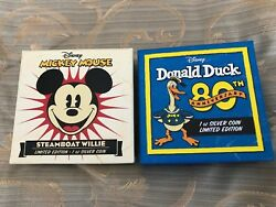 Perth Mint - Disney Mickey Steamboat Willie And Donald Duck - 1 Oz Silver Coins