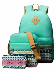 Cute Backpack for Girls Canvas Middle School Laptop Book Bag for Kids Ru... New