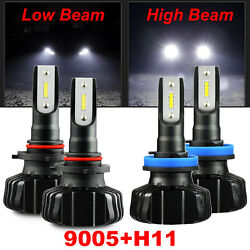 CSP 60W 9005 H11 Combo 6400LM LED Headlight HighLow Beam Fog Light Bulbs White