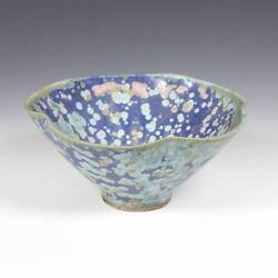 Chinese Porcelain Blue Lotus Bowl Glazed Ceramics China Late 19th Early 20th C