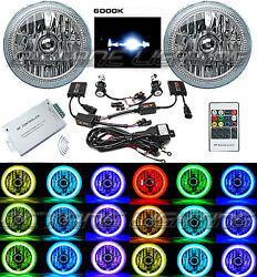 7 Multi-color White Red Blue Green Rgb Smd Led Halo Angel Eye 6k Hid Headlights