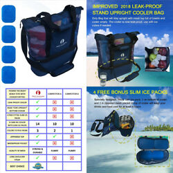 Red Suricata Improved Mesh Beach Bag with Leak-proof Rigid Cooler  4 Fitted...