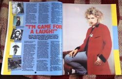 Kim Wilde And039red Coatand039 Magazine Photo/article/clipping 11x8 Inches