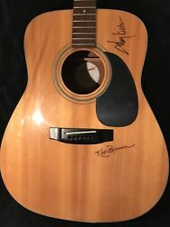 """Toby Keith Signed Guitar 1996 Takimine Acoustic """"blue Moon"""" Sharpie."""