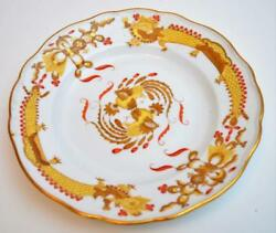 Antq Meissen Germany Crossed Swords Mark Yellow Dragon Red Dots 10 Dinner Plate