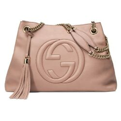 Gucci Soho Chain Shoulder Bag Interlocking GG in Blush Pink 308982 $2,999.00