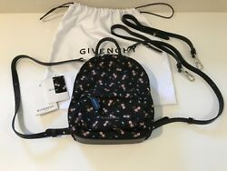 AUTH GIVENCHY NANO BACKPACK CROSSBODY BAG *Detachable adjustable straps*