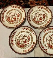 Wow Lot Of 4 Vintage Copeland Spode Indian India Tree 6 1/4 Saucers