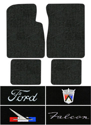 1960-1962 Ford Falcon Floor Mats - 4pc - Loop   Fits 2dr 4dr