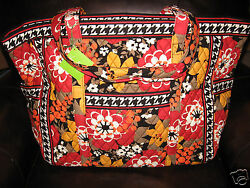Vera Bradley BITTERSWEET Get Carried Away XL Tote Travel Carry On Beach Bag NWT