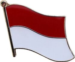 Wholesale Pack Of 50 Indonesia Country Flag Bike Hat Cap Lapel Pin