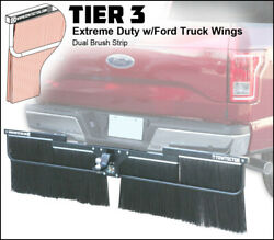 Towtector Mud Flap 96x14 Dual Brush Strips W/ Ford Truck Wings - 2.5 Receiver