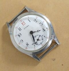 Cyma Manual Wind Swiss Watch Enamel Dial From 1930 For Repair/parts Project