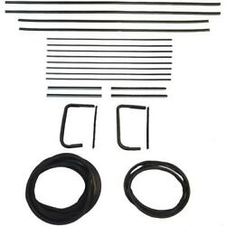 1955 Buick Century And Special 4dr Wagon Glass Weatherstrip Seal Kit