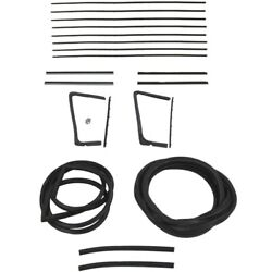 1955 1956 Buick And Oldsmobile 88 98 2dr Hardtop Glass Weatherstrip Seal Kit