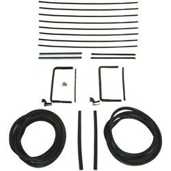 1955 Cadillac Series 62 And Coupe Deville 2dr Hardtop Glass Weatherstrip Seal Kit