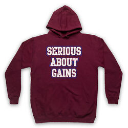 Serious About Gains Bodybuilding Workout Gym Slogan Adults Kids Hoodie
