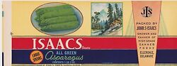 Vintage Delaware Canning Label 1930s Asparagus Issacs Rare Red Band Pk Of 10