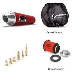 Jet Kit,pre Filter, Filter And Red Exhaust For Yamaha Wolverine 350 1995-2005