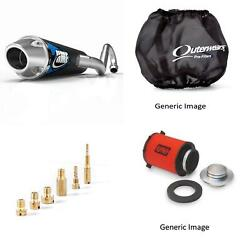 Jet Kit,pre Filter,air Filter And Black Full Exhaust Fits Yam Raptor 250 08-10