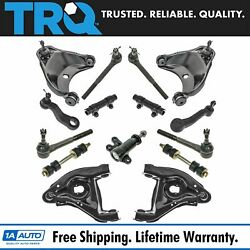 Trq 15 Pc Steering And Suspension Kit Control Arms Tie Rods Idler Pitman Arms New