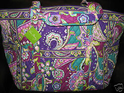 Vera Bradley HEATHER Get Carried Away XL Tote Travel Carry On Beach Bag NWT