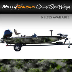 Camo Boat Wrap Kit Chameleon Black and Green 3M Cast Vinyl - 6 Sizes Available