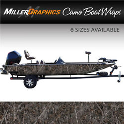 Camo Boat Wrap Kit Woodland Ghost 3m Cast Vinyl - 6 Sizes Available
