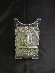 Antique Victorian Silver Castle-top Card Case Birmingham Taylor And Perry 1845