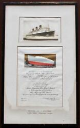 Cunard White Star Line Rms Queen Mary Dulxe Rare Launch Invite Printers Copy