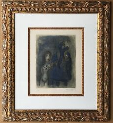 MARC CHAGALL RAHAB ET LES ESPIONS DE JERICHO 1960 HAND SIGNED & NUMBERED LITHO