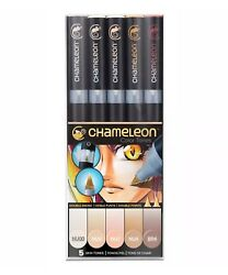 Chameleon Color Tones Double Ended Pens Skin Tones 5 Piece