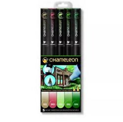Chameleon Color Tones Double Ended Pens NATURE TONES 5 Pieces