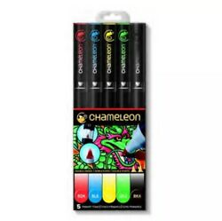 Chameleon Color Tones Double Ended Pens Primary Tones 5 Pieces