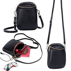 Zg Girls Women Soft Leather Small Cute Crossbody Cell Phone Purse Wallet Bag for