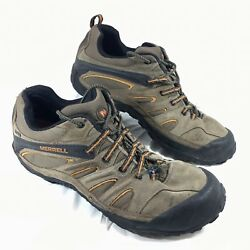 Merrell Waterproof Chameleon 4 Ventilator Hiking Trail Shoes Brown leather Sz 14