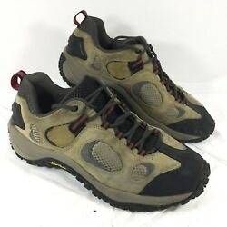 Merrell Chameleon Ventilator low tan Hiking Trail Shoes Brown leather Sz 10