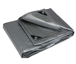 All Weather Light Duty Water Resistant Reinforced Cover Silver Tarp 10and039 X 10and039