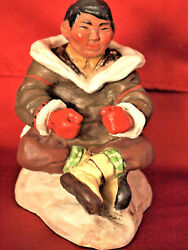 Vintage Authentic Goebel Tuckichuk Figurine And039and039eskimo Man In Counsiland039and039 65 Inche