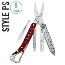 New Leatherman Style Ps Keychain Tool Red/stainless Tsa-compliant